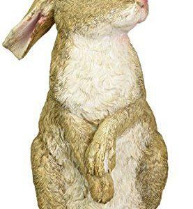 Design Toscano Hopper the Bunny Standing Rabbit Outdoor Garden Statue, 11 Inch, Polyresin