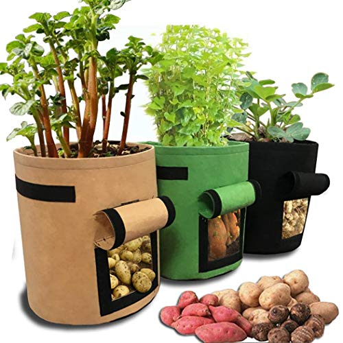 weepo Home Balcony Garden Plant Bag Vegetables Growing Container for Potato Cultivation Grow Bags