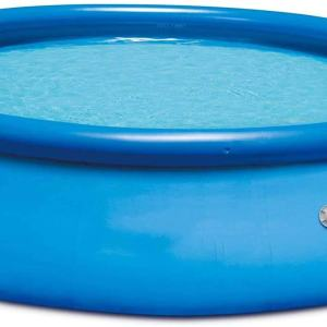 Lenakrui 15ft x 36in Quick Set Inflatable Above Ground Swimming Pool with Filter Pump