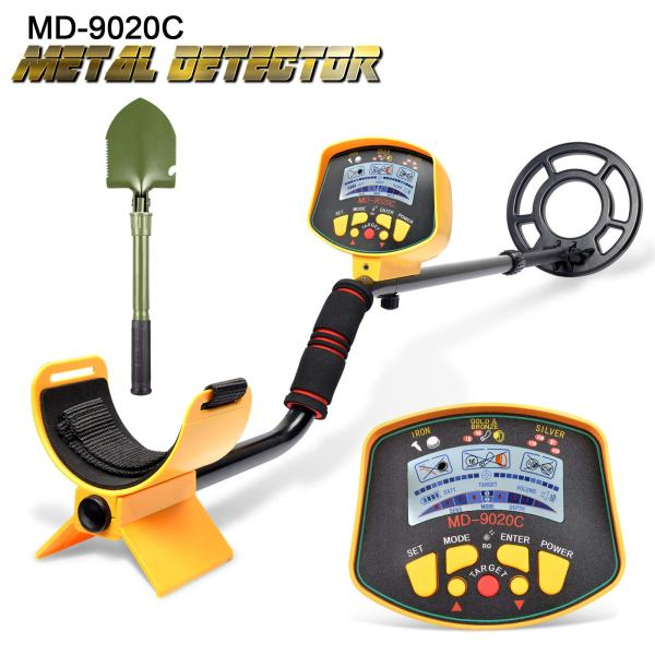 VVinRC Professional Metal Detector with Pinpointer Function, High Sensitivity Metal Detector for Adults & Kids Waterproof Search Coil Underground Treasure Hunter LCD Display