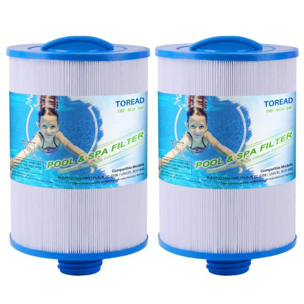TOREAD Hot Tub Filter Replacement for Pleatco PWW50P3 (NOT PWW50P4), Unicel 6CH-940, Waterway Front Access Skimmer, Waterway Plastics 817-0050, Filbur FC-0359, 25252, 378902, 03FIL1400 Spa Filter