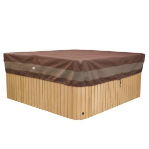 Duck Covers Ultimate Water-Resistant 86 Inch Square Hot Tub Cover Cap