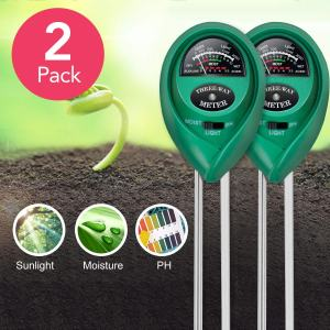 iPower LGTESTSOILX2 2-Pack pH Meter, 3-in-1 Soil Tester Kits with Moisture,Light and, 2 pk