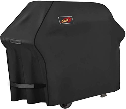 Homitt Gas Grill Cover, 58-inch 3-4 Burner 600D Heavy Duty Waterproof BBQ Cover with Handles and Adjustable Straps for Most Brands of Grill -Black