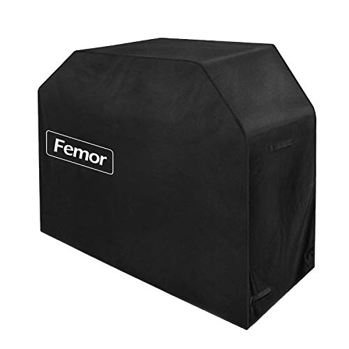 """femor 64"""" Gas Grill Cover, BBQ Cover Waterproof, Premium Heavy Duty 600D with Storage Bag (UV & Dust & Water Resistant, Weather Resistant, Rip Resistant) for Weber, Holland, Jenn Air, Brinkmann etc."""