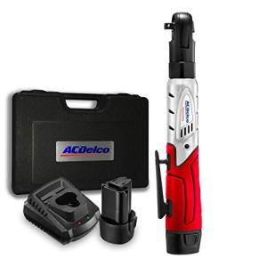 "ACDelco Cordless 3/8"" Ratchet Wrench 57'-Lb of max Torque Tool Set with 2 Batteries & Charger, Carrying Case ARW1201"