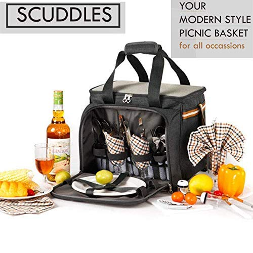 PREMIUM Extra Large Picnic Basket keeps food Hot/Cold for 12 Hours Guarantee: Picnic basket