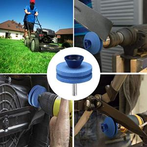 【2020 New】 Lawnmower Blade Sharpener Drill Attachment 【2020 New】 Lawnmower Blade Sharpener Drill Attachment, Blunt Blade Sharpener, Blunt Blades Drill Attachment Lawn Mower Sharpener lawnmower Blade Kit for Any Power Drill Hand Drill-(3 Pack Blue).