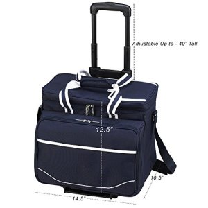 Picnic at Ascot Original Insulated Picnic Cooler with Service for 4 on Wheels Guarantee: Lifetime producer's guarantee on components