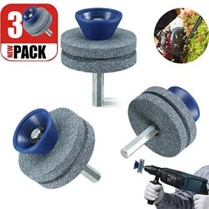 【2020 UPGRADE】 Lawnmower Blade Sharpener, Blunt Blade Sharpener, Blunt Blades Drill Attachment Lawn Mower Sharpener lawnmower Blade Kit Drill Attachment for Any Power Drill Hand Drill-(3 Pack Blue)