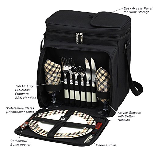 Picnic at Ascot Original Insulated Picnic Basket/Cooler Equipped Guarantee: Lifetime guarantee elements