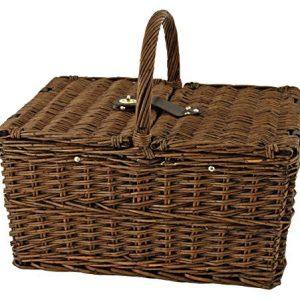 Seaside Cape Cod Wicker Picnic Basket by Twine Bundle Dimensions: 19.three x 13.three x 15.5 inches
