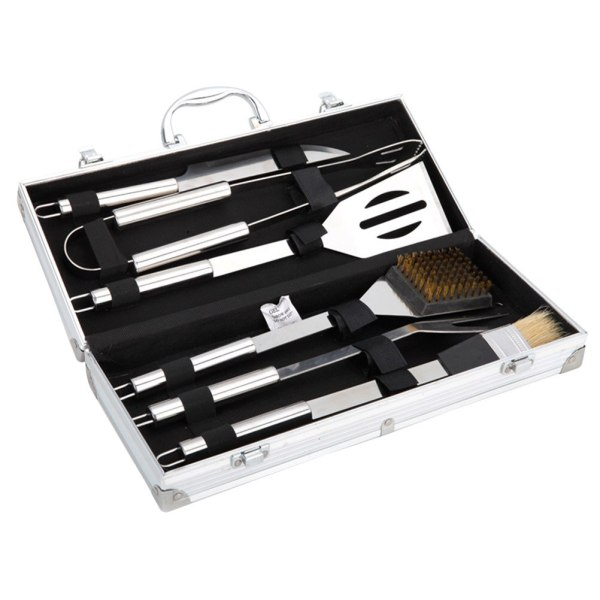 Outdoor Portable Barbecue 6-piece Set Grill Cookware Utensils