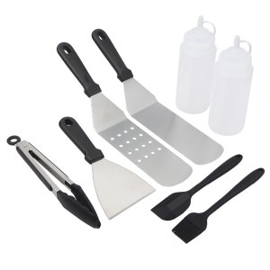 8 Pcs/Lot BBQ Tools Barbecue Set For Teppanyaki Spatulas
