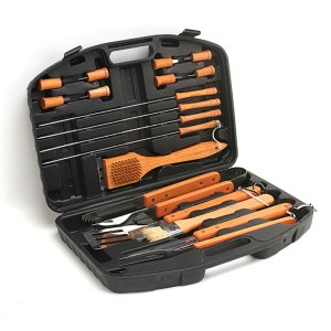 Grill Tool Set 18 Piece Stainless Steel Barbecue Set with Storage Case