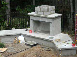 Georgia Preferred Builder on Outdoor Fireplace With Cinder Blocks id=50206