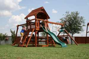 fort davis, monkey bars, overhead climber, picnic table, rock wall, wooden swing set, swing set, swings, slide, swing set for kids, kids, children, play, playground, playset, sets, accessories, backyard swing set