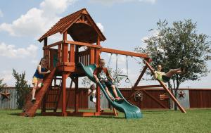 fort davis, rock wall, wooden swing set, swing set, swings, slide, swing set for kids, kids, children, play, playground, playset, sets, accessories, backyard swing set