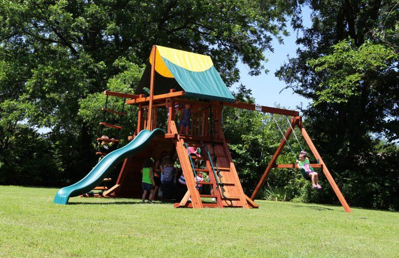 swing sets, Rustler, slide, swings, tire swing, rope climber, budget friendly swing set, outdoor swing set, backyard swing set, economical swing set