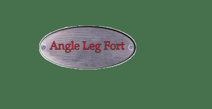 angle leg swing set, angle leg fort, wooden swing set, playset