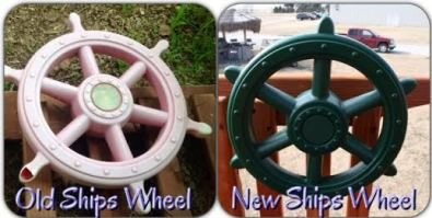 accessories, ships wheel, kids toys, swing set toys, playset