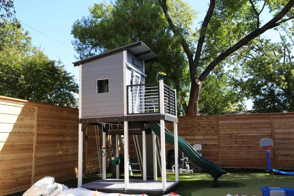 Modern Design Swing Set | Backyard Fun Factory