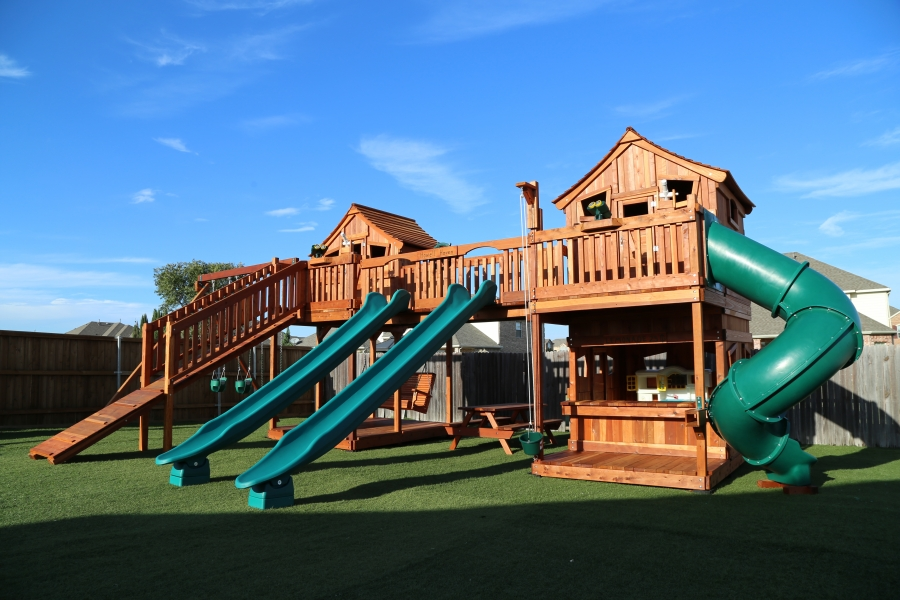 Make Your Backyard EPIC With A Bridged Playset!