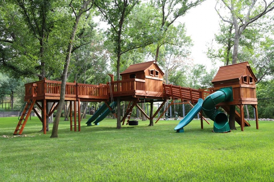 swing set, Fort Ticonderoga, porch, tree platform, fun shack, playset, accessories, monkey bars, spiral slide, rocket slides, swings, backyard playset, backyard retreat, wooden playset