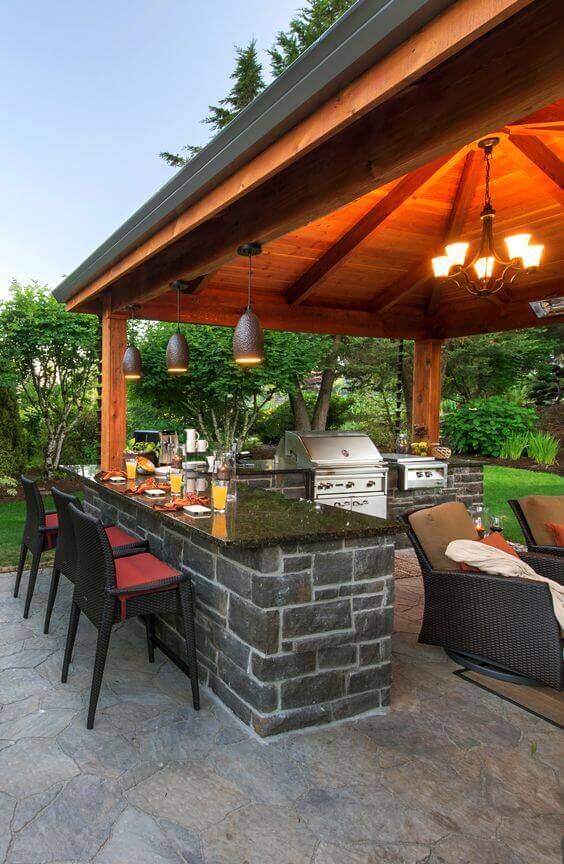 32 Bright Outdoor Pavilion Lighting Fixtures on Outdoor Patio Pavilion id=29409