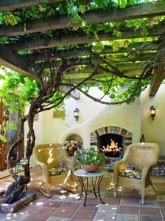 31 Flower Worthy Covered Trellis Patio Designs