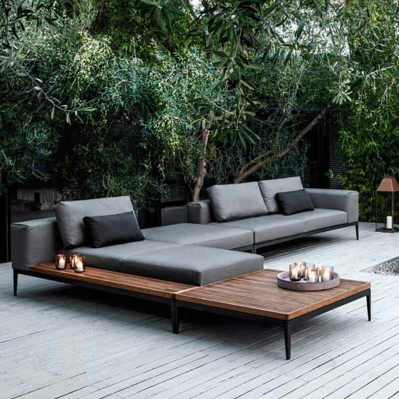 stylish contemporary wooden outdoor