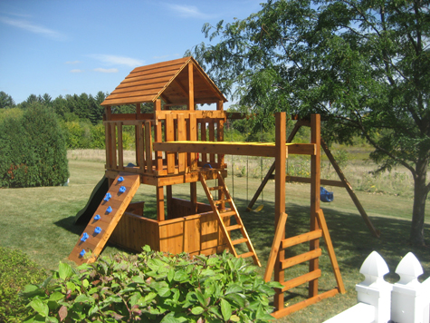 Build Childrens Playset Plans DIY PDF Kids Wood Project