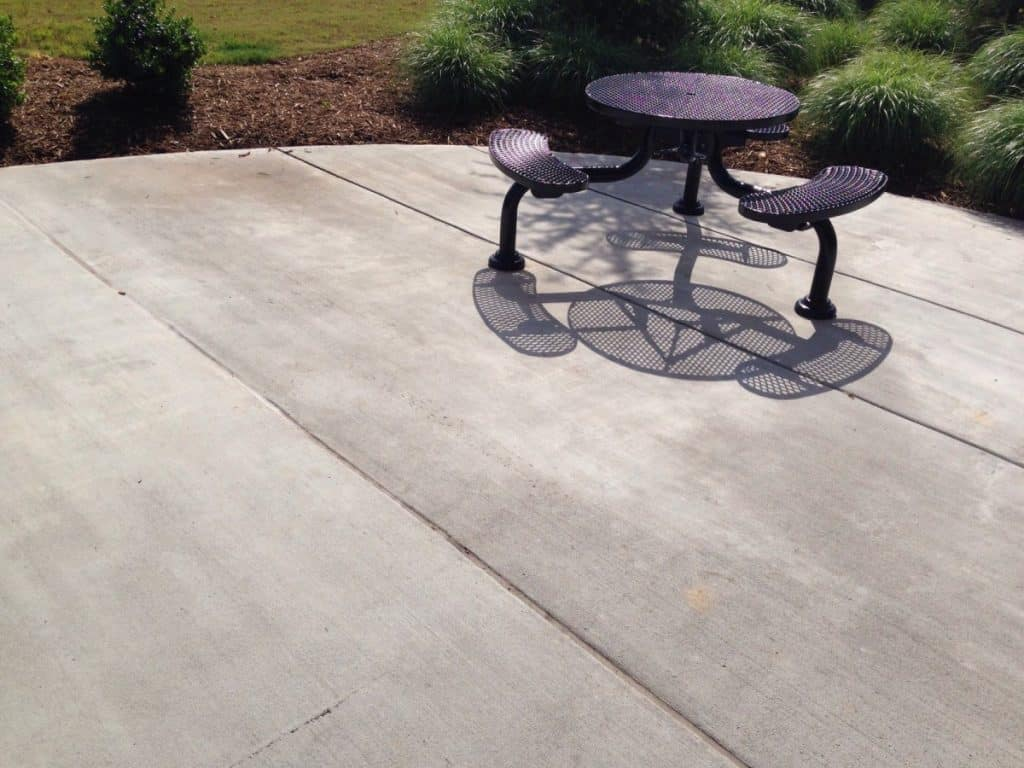 deck or fence stain on concrete step