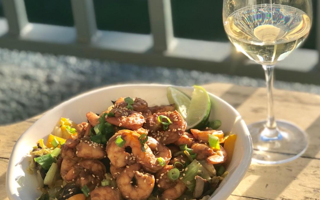 Napa Cabbage Shrimp Stir Fry