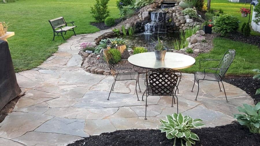 how to build a flagstone patio a
