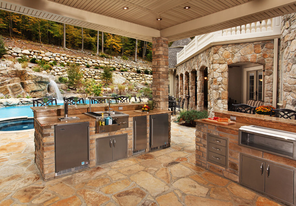 Amazing Backyard Outdoor Kitchen Ideas & Designs ... on Outdoor Kitchen By Pool id=48055