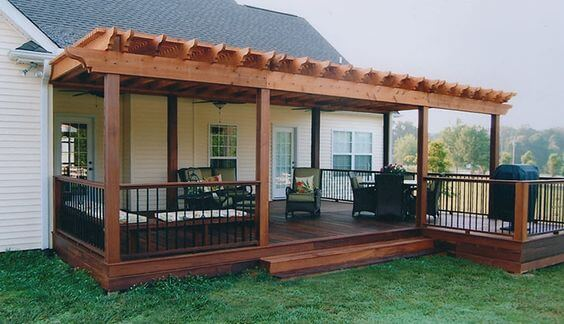 Covered Deck Ideas for Your Home (Amazing Designs ... on Covered Back Deck Designs id=38662