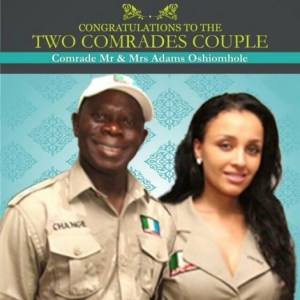 Lara Fortes is Adams Oshiomhole's new love after his first wife Clara died of cancer aged 54