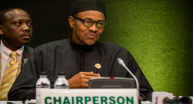 Muhammadu-Buhari-In-South-Africa-for-AU-Summit-Peace-Meeting