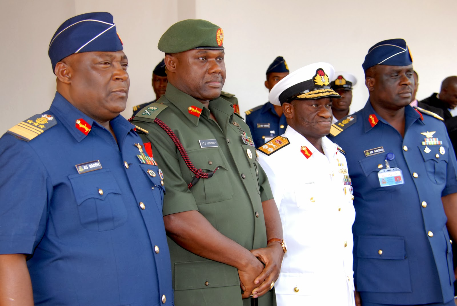 Service-Chiefs-Chief-of-Defence-Staff-Air-Marshal-Alex-Badeh-Chief-of-Army-Staff-Major-Gen-Kenneth-Tobiah-Minimah-Chief-of-Naval
