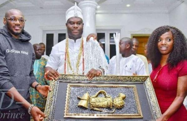 What Ooni Of Ife Said During 2Baba's Visit To Throne Of Oduduwa