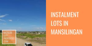 Instalment Lots in Mansilingan