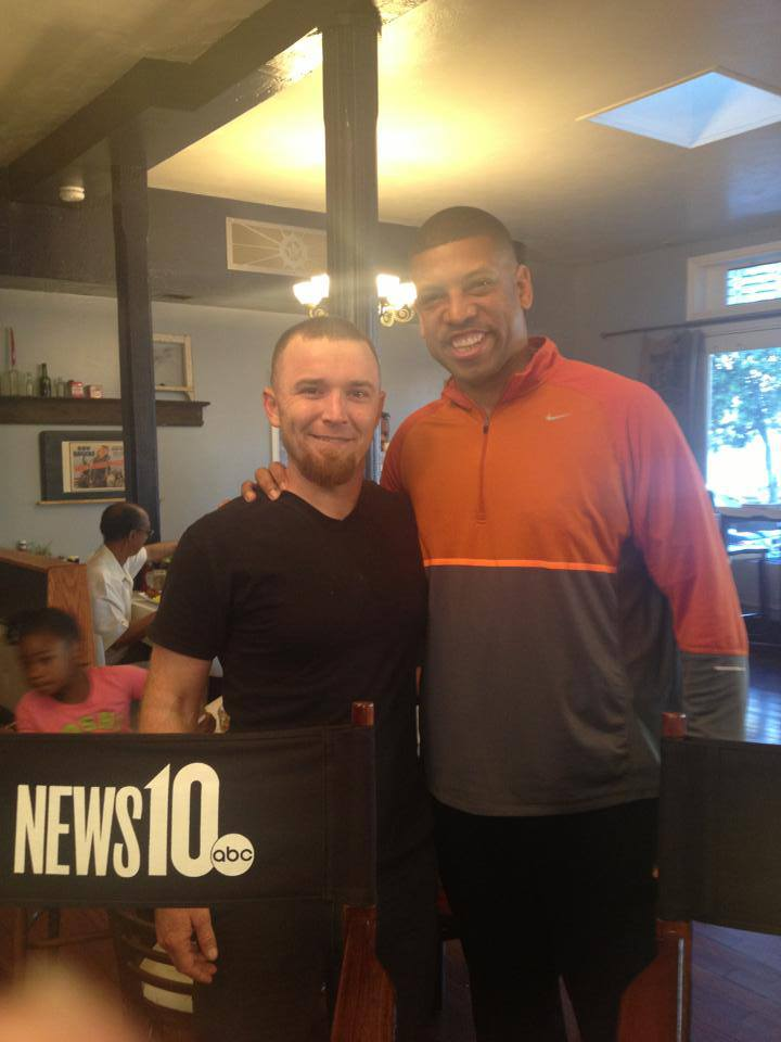 Chef and Mayor Johnson at Bacon & Butter