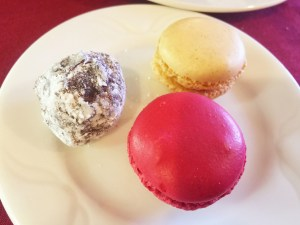 French Tart truffle and Macarons