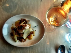 Charlie Bird Moscato dAsti and Winesap Apple Olive Oil Cake