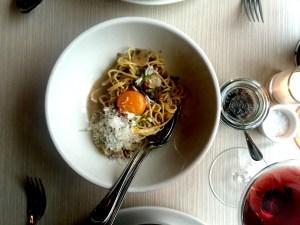 Charlie Bird Spaghetti Alla Carbonara Overhead
