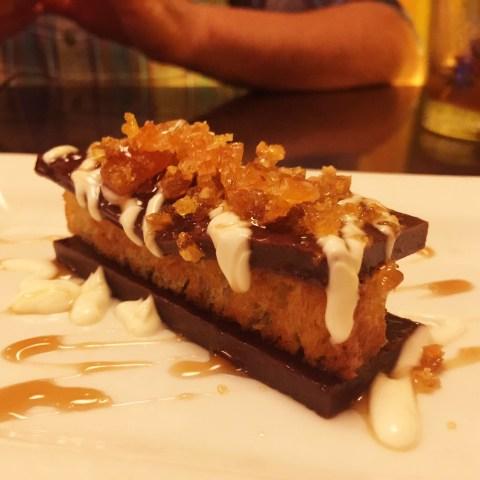 salted dark chocolate fudge at grove, grand rapids