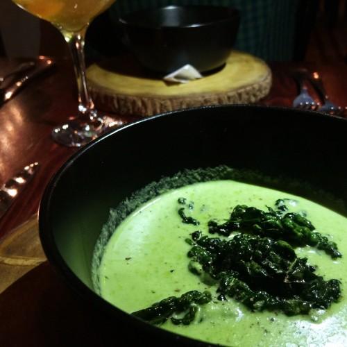 Cebu Cream of Mushroom Soup with Crispy Kale