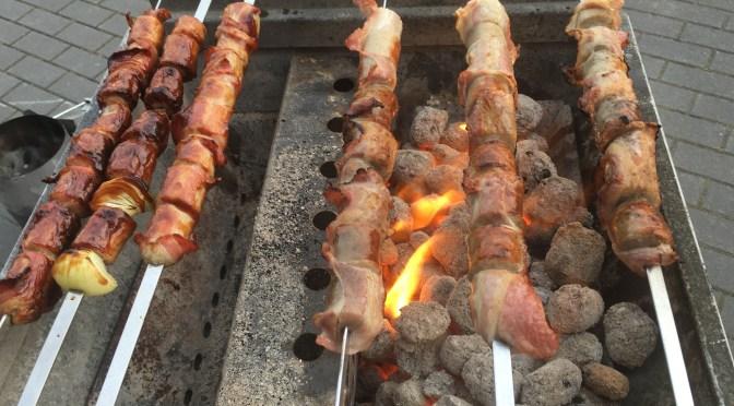 Bacon Wurstspieß