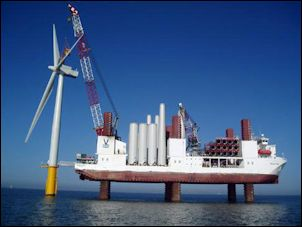 One of these bad boys costs $100,000 to $200,000 per day, and it has to come all the way for Europe -- a big expense for just two experimental turbines.